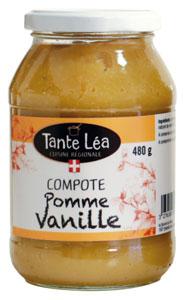 compote pomme vanille Tante Léa